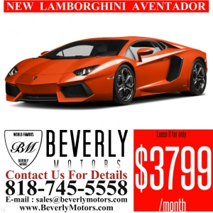 Glendale Auto Leasing and Sales,New Car Lease in Glendale burbank los angeles pasadena beverly hills west hollywood - NEW Lamborghini Aventador Lease Special