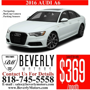 Glendale Auto Leasing and Sales,New Car Lease in Glendale burbank los angeles pasadena beverly hills west hollywood - 2016 Audi A6 Premium Lease Special
