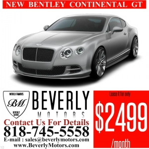 Glendale Auto Leasing and Sales,New Car Lease in Glendale burbank los angeles pasadena beverly hills west hollywood - NEW Bentley Continental GT V8 Lease Special