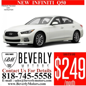 Glendale Auto Leasing and Sales,New Car Lease in Glendale burbank los angeles pasadena beverly hills west hollywood - NEW INFINITI Q50 PREMIUM WITH NAV Lease Special