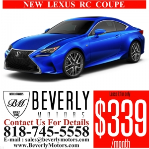Glendale Auto Leasing and Sales,New Car Lease in Glendale burbank los angeles pasadena beverly hills west hollywood - NEW Lexus RC350 F Sport Lease Special