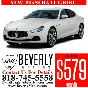 Glendale Auto Leasing and Sales,New Car Lease in Glendale burbank los angeles pasadena beverly hills west hollywood - NEW Maserati Ghibli Lease Special