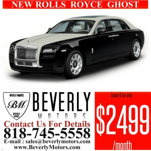 Glendale Auto Leasing and Sales,New Car Lease in Glendale burbank los angeles pasadena beverly hills west hollywood - NEW Rolls Royce Ghostt Lease Special