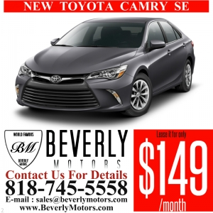 Glendale Auto Leasing and Sales,New Car Lease in Glendale burbank los angeles pasadena beverly hills west hollywood - NEW Toyota Camry SE Lease Special