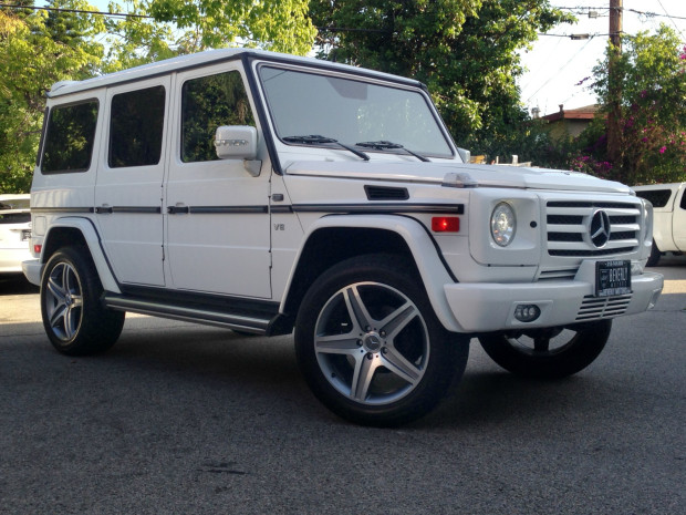 2002 mercedes benz g500 white