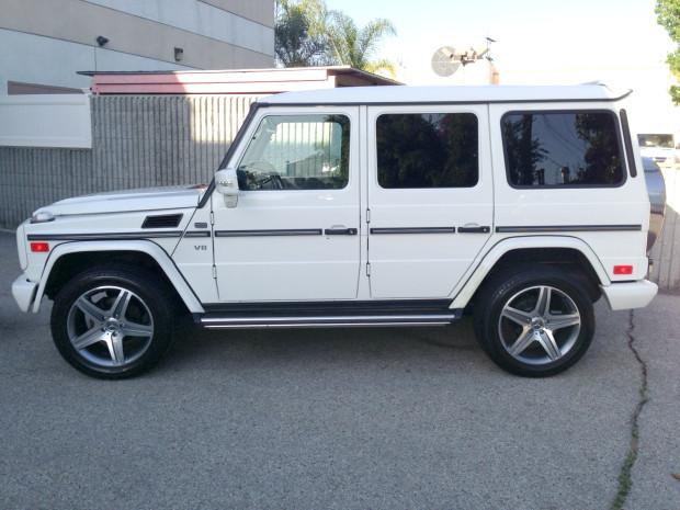 2002 mercedes benz g500 white for Mercedes benz g wagon 2013 price