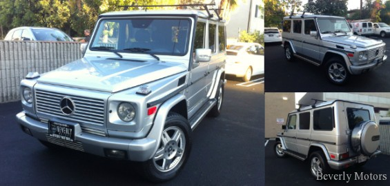 2003 mercedes benz g500 silver for sale for Beverly hills mercedes benz used cars