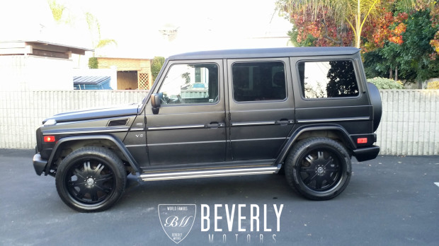 2002 mercedes benz g500 for sale by beverly motors inc for Mercedes benz g wagon matte black price