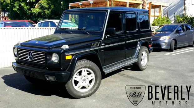 2002 mercedes benz g500 black on black for sale beverly for Mercedes benz truck leasing