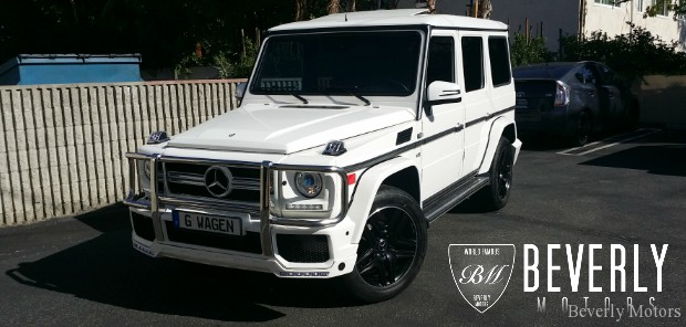 2002 Mercedes-Benz G500 White on Black G63 AMG biturbo wagon Gwagen Gelik For Sale Glendale Auto Leasing and Sales, Burbank LA beverly hills west hollywood