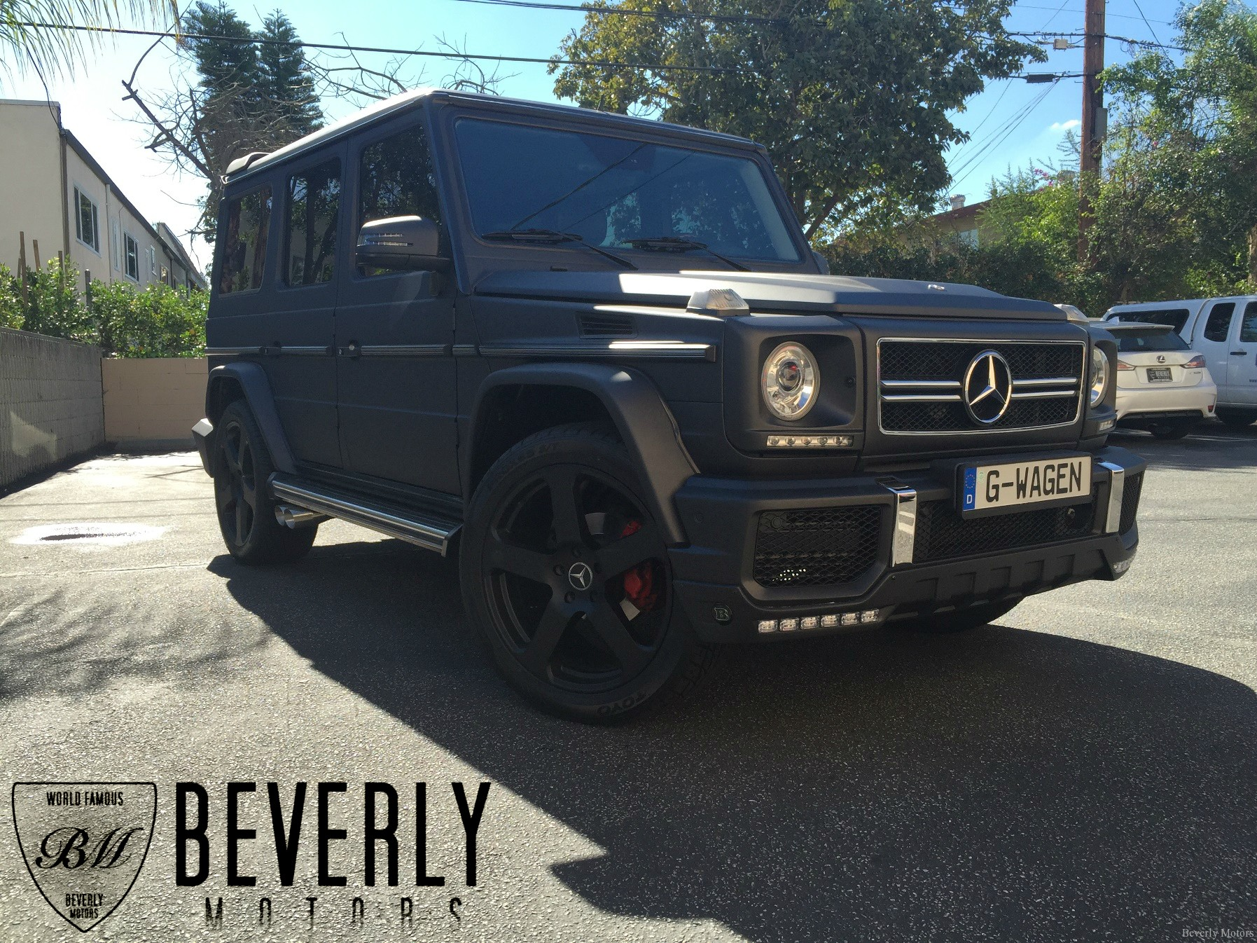 Pics for mercedes benz g class matte black for Matte black mercedes benz