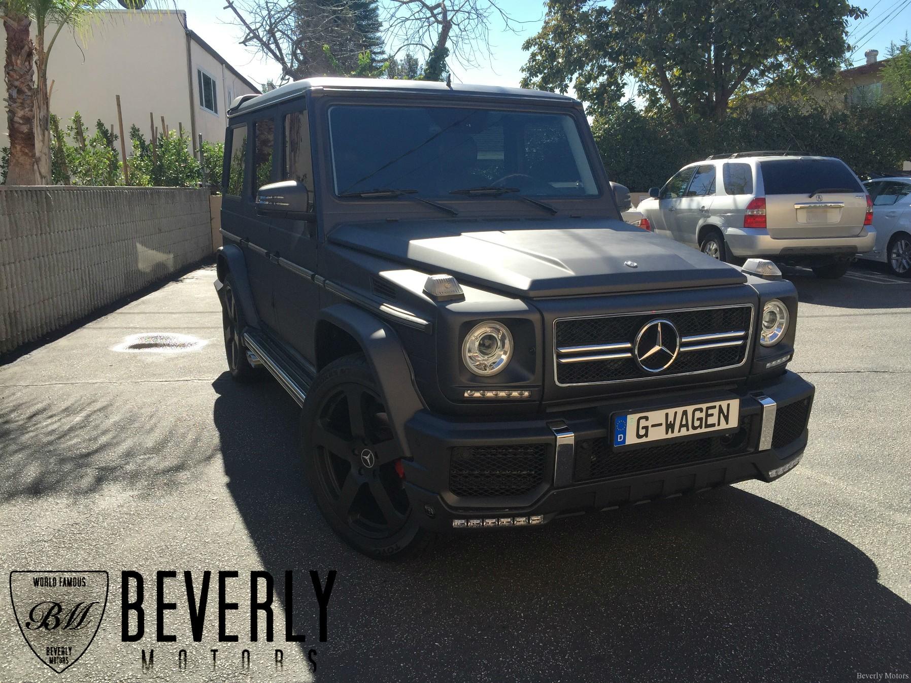 2003 mercedes benz g500 g63 brabus g class matte black for Mercedes benz glendale