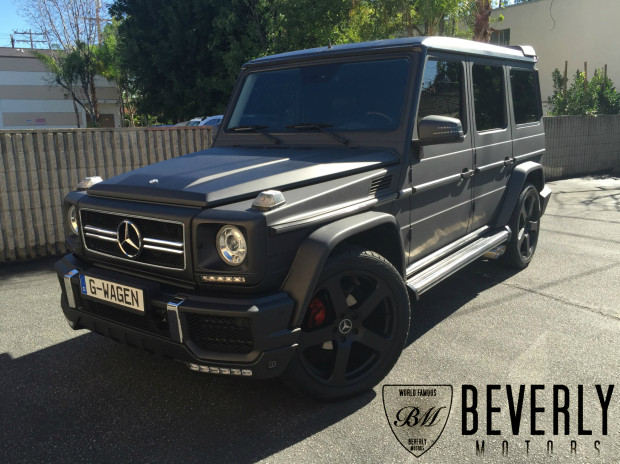 2003 mercedes benz g500 g63 brabus g class matte black for Mercedes benz g wagon black matte
