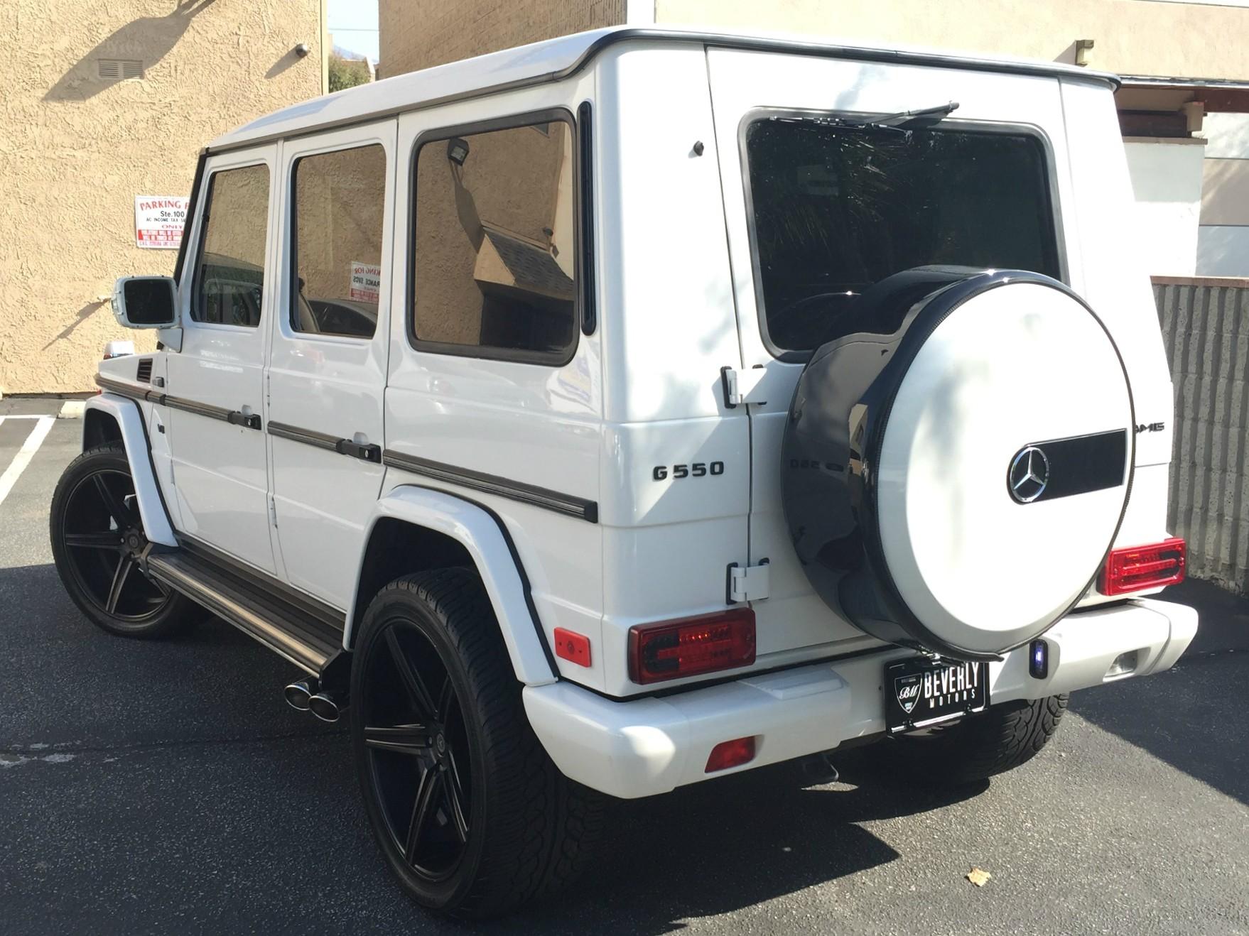 2002 mercedes benz g500 white on black g55 g550 amg brabus gwagon gwagen gelik wald black bison hamann g class for sale 26 - Mercedes G Class 2015 Black
