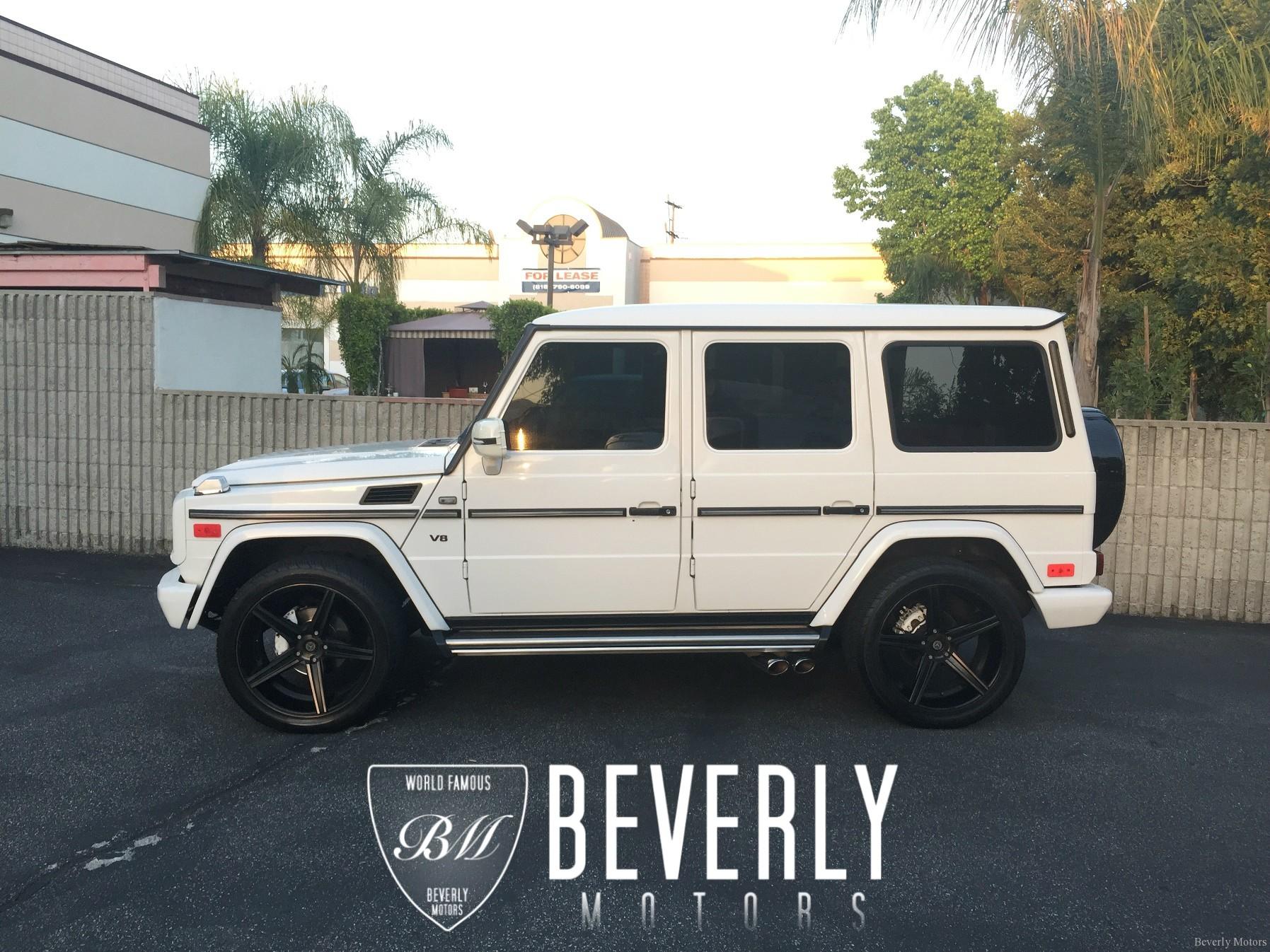 2002 mercedes benz g500 white on black g55 g550 amg brabus gwagon gwagen gelik wald black bison hamann g class for sale 72 - Mercedes G Class 2015 Black