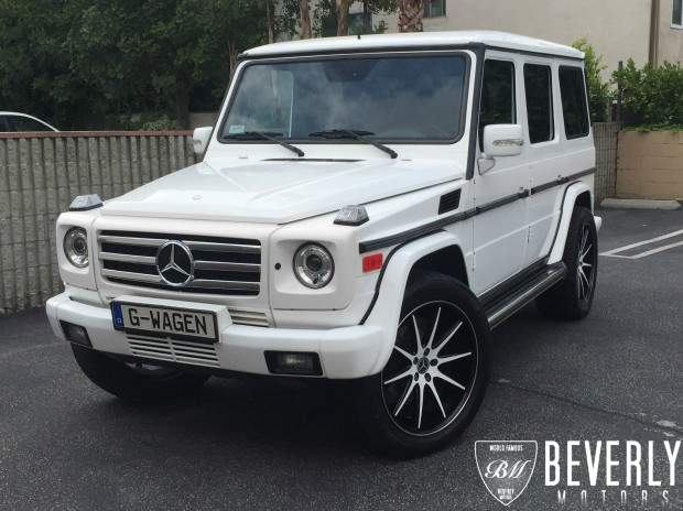 2005 mercedes benz g500 for sale white on black beverly for Mercedes benz g wagon 6x6 for sale