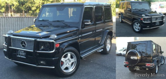 2003 mercedes benz g55 amg designo black on black for sale beverly motors inc glendale auto. Black Bedroom Furniture Sets. Home Design Ideas