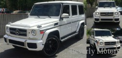 2003 Mercedes-Benz G500 White on gray G55 G550 AMG Brabus Gwagon WALD Black Bison Hamann G class For Sale (00)
