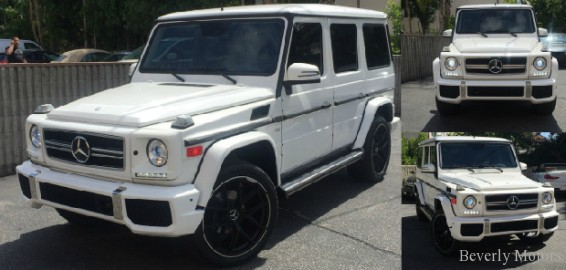 2003 mercedes benz g500 g63 white on gray for sale beverly motors inc glendale auto leasing. Black Bedroom Furniture Sets. Home Design Ideas