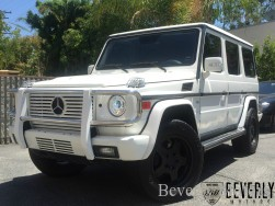 2003 Mercedes-Benz G500 White on gray G55 G550 AMG Brabus Gwagon WALD Black Bison Hamann G class For Sale (4)