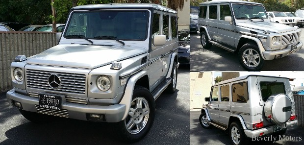 2002 Mercedes-Benz G500 Silver G wagon Gwagen Gelik For Sale Glendale Auto Leasing and Sales,New Car Lease in Glendale burbank los angeles beverly hills west hollywo (000)