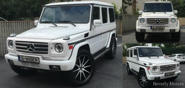 2005 Mercedes-Benz G500 White on Black G55 G550 AMG Brabus Gwagon Gwagen Gelik WALD Black Bison Hamann G class For Sale