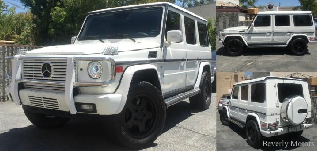 2003 Mercedes-Benz G500 White on gray G55 G550 AMG Brabus Gwagon WALD Black Bison Hamann G class For Sale (1)